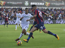 Marcello Trotta, Crotone, against Vincent Laurini, Fiorentina during the match Fc Crotone vs ACF Fiorentina of Serie A. Crotone won 2-1